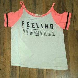 "Hot Gal Cold Shoulder ""Feeling Flawless "" Tee"